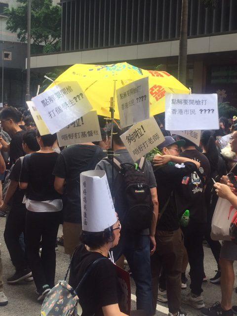 Sunday protests in HK