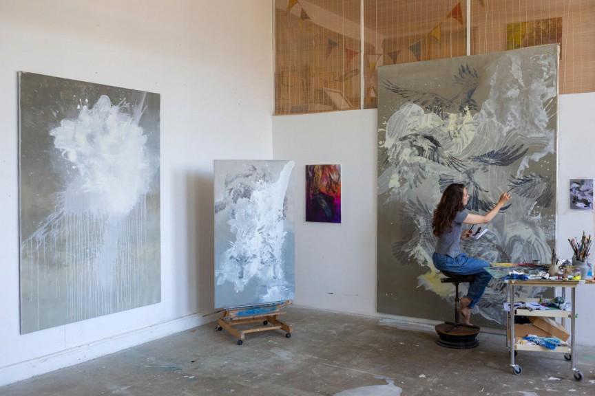 Isabelle Dutoit Studio View, Summer 2019 (Photo- Lizette S. Ardelean)