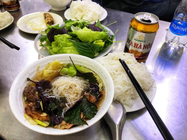 Eating one's way through Hanoi