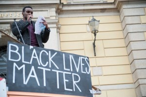 Antar Keith at Black Lives Matter protest, Leipzig, 7 June 2020. Photo: Yuval Gal Cohen