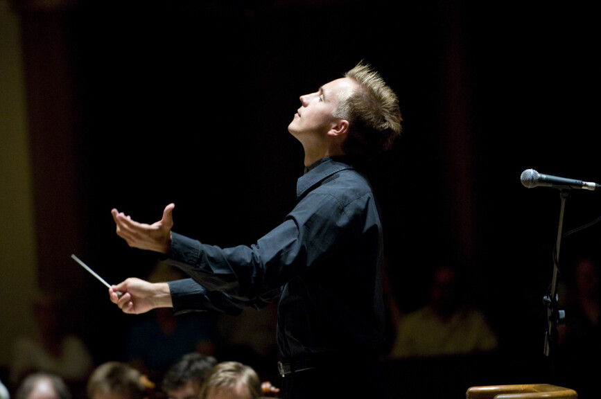 Conductor Vasily Petrenko at concert performance in Liverpool, White Nights - photo courtesy of Mark McNulty