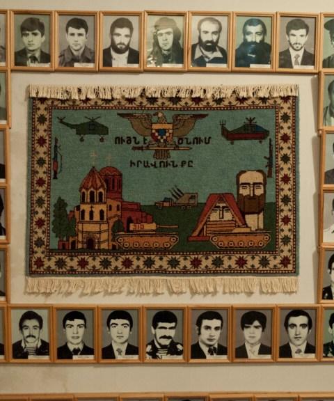 Museum of Fallen Soldiers exhibit in Nagorno Karabakh
