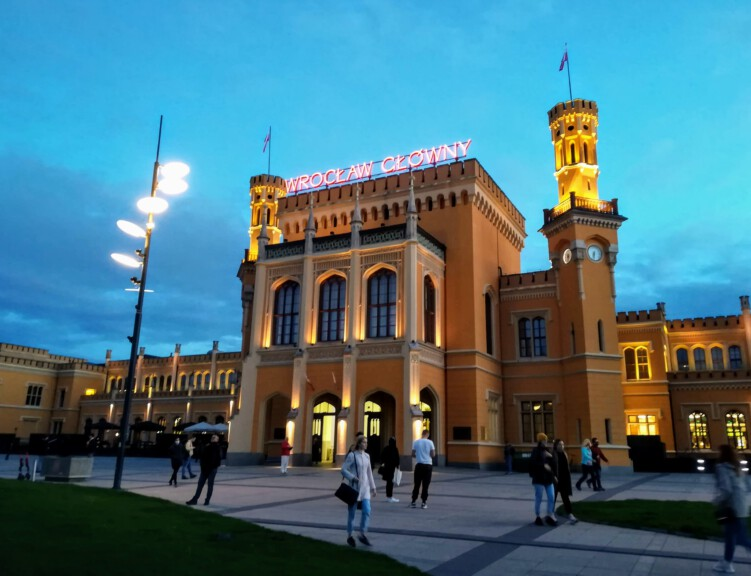 The central station at Wrocław