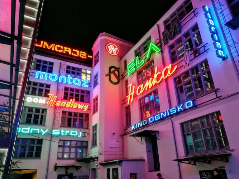 neon lights at Ulica Ruska
