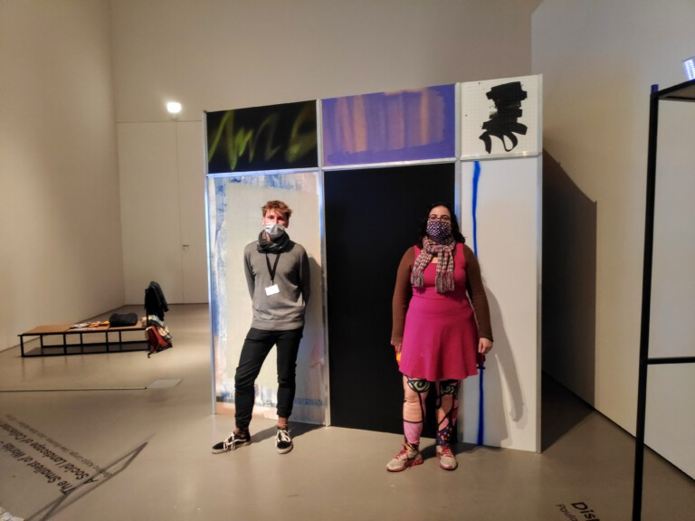 Ana and Lars at the exhibition