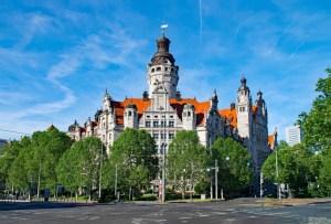 Leipzig Neues Rathaus city hall, public domain photo, Migrants' Council story