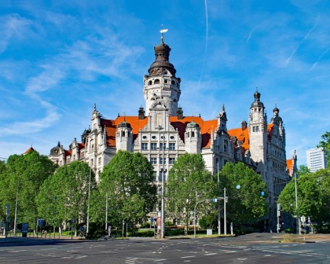 Leipzig Neues Rathaus city hall, public domain photo, Migrants' Council story