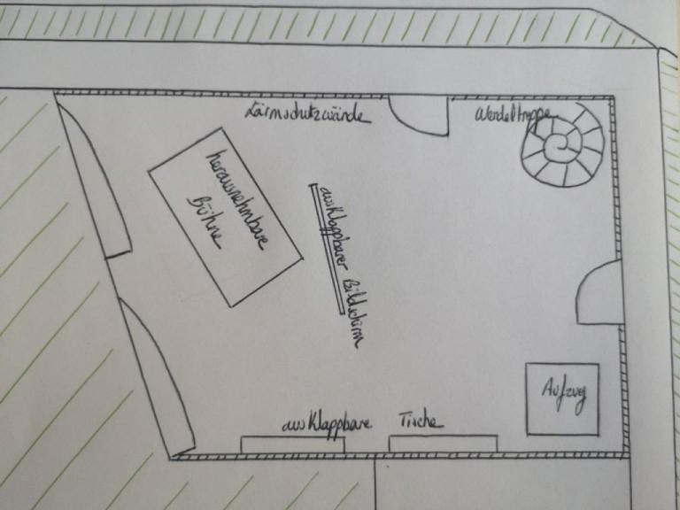 Design draft of the cultural arena