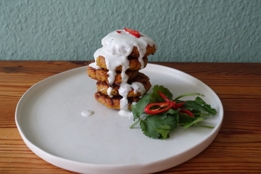 Carrots and chickpea flour fritters