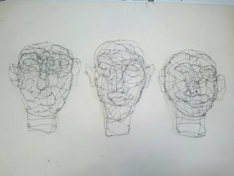 Kunst in Raum gezeichnet