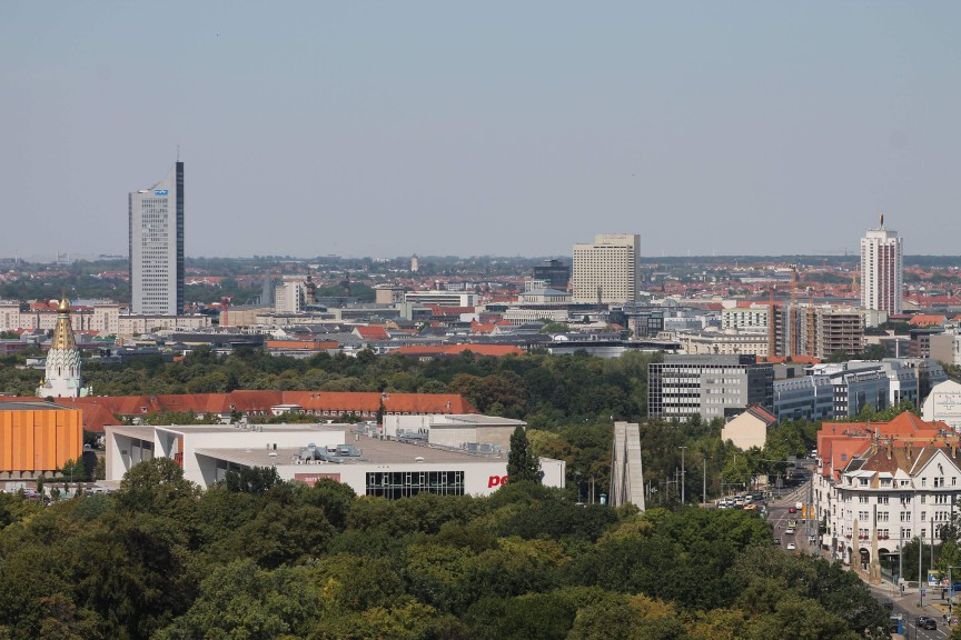 Leipzig city center from Alte MEsse