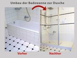 """Umbau der Badewanne mit dem Patent """"Wanne zur Dusche"""" in 8 ..."""