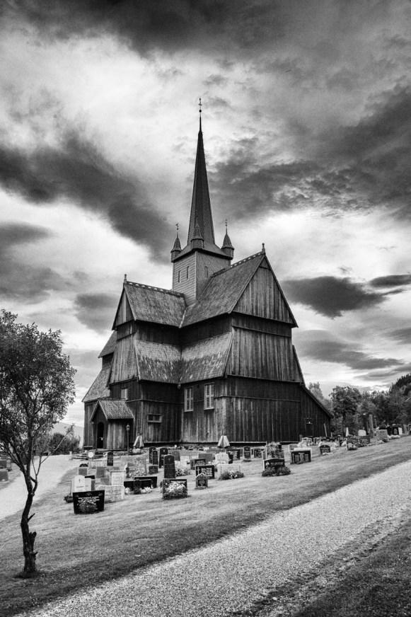 Ringebu stave church - Nik Silver Efex