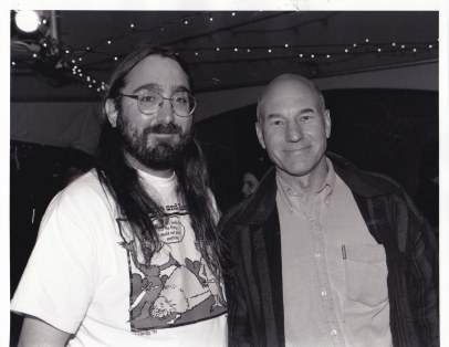 Mark Leiren-Young & Patrick Stewart backstage at Bard on the Beach