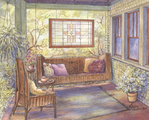 Arts-Crafts-Dream-Porch-Pen-and-Watercolor-on-paper-9-x-11-inches-450-480x387