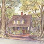 Cottage bungalow house portrait: Asheville, NC