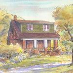 Craftsman house portrait: Little Rock, AR