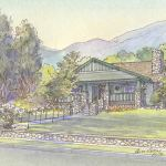 Craftsman house portrait: Sierra Madre, CA
