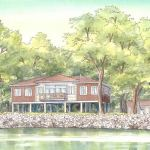Modern house painting: Mississippi River, Wisconsin