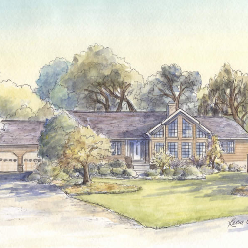 House Portraits: Modern Houses and Homes on Modern House Painting  id=98296