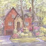 Tudor style house portrait: Alexandria, VA