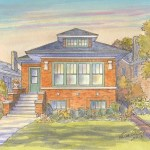 Brick bungalow in Chicago IL that received Leisa Collins Historic Preservation Award