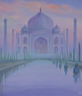 Taj-Mahal-through-the-Mist---Acrylic-on-Canvas---20-x-24-inches---$850-small