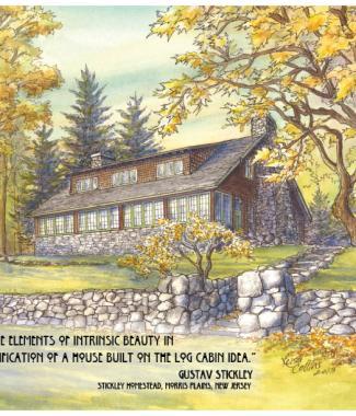 Gustav Stickley Homestead, Morris Plains NJ with Stickley qoute (792x612)