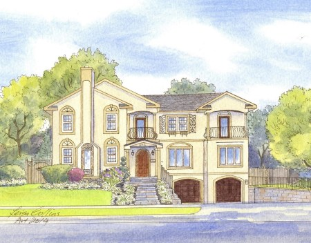 A modern home in Bethesda