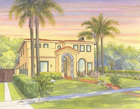 Mediterranean style home in Santa Monica