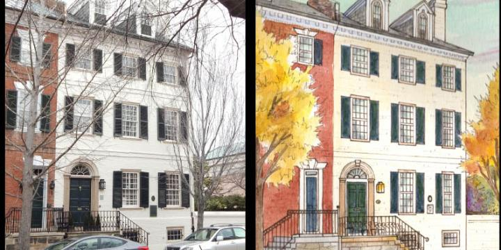 Architectural paintings of homes – Before & After