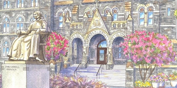 Painting of Georgetown University, Washington DC