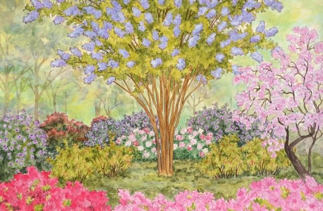 Hidden spring garden, Alexandria, VA