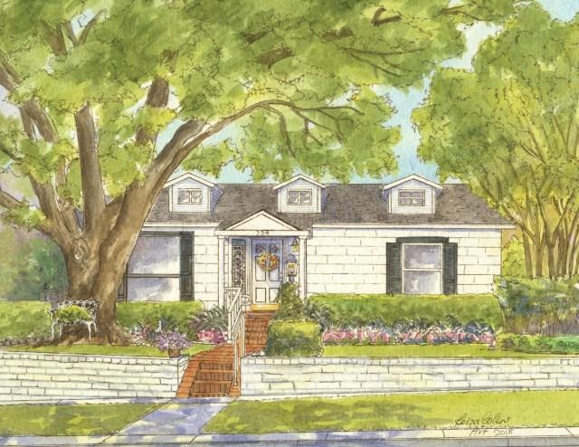 Cape Cod style cottage in San Antonio