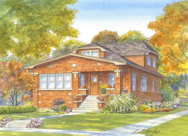 Beautiful Fall Craftsman home in River Forest IL