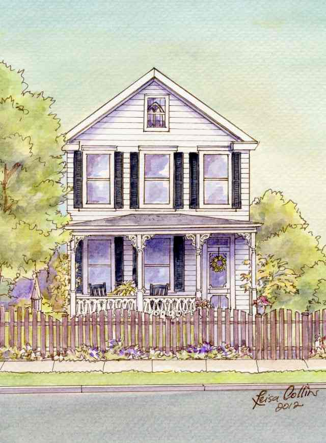Inviting white Victorian cottage sits behind its scalloped picket fence on East Clifford Avenue