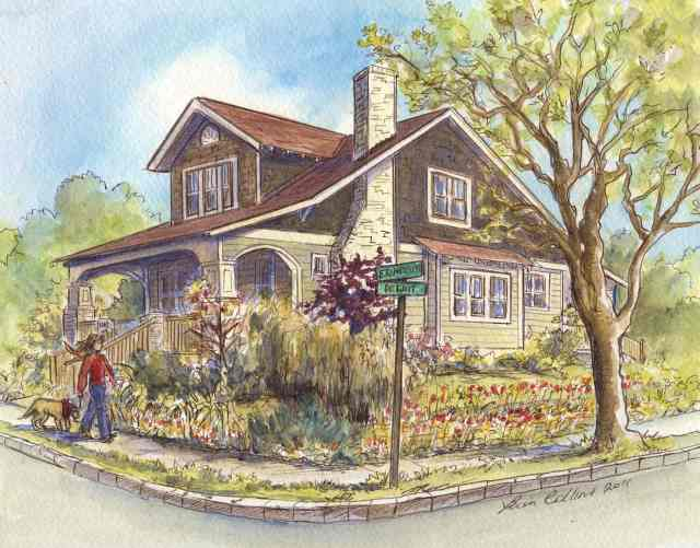 Dewitt Avenue Craftsman bungalow home sits on beautiful corner garden