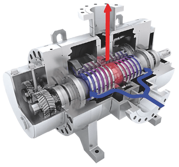 twin screw pump for multiphase service