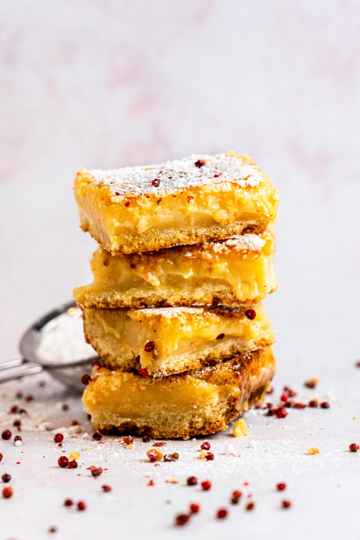 Grapefruit Bars with Pink Peppercorn