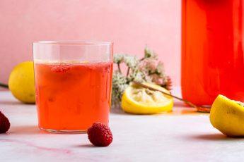 Raspberry Elderflower Lemonade