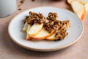 Peanut Butter Granola Apple Slices