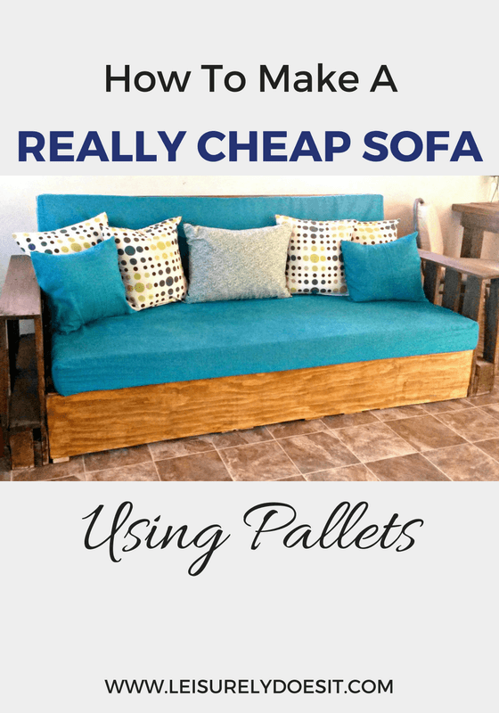 How To Make A Really Cheap Sofa Using Pallets