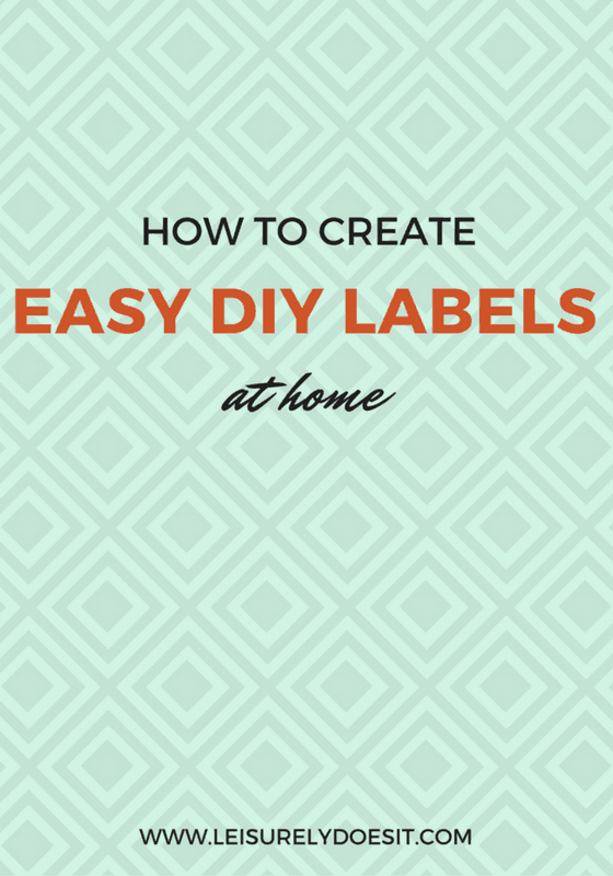 How To Create Easy DIY Labels At Home