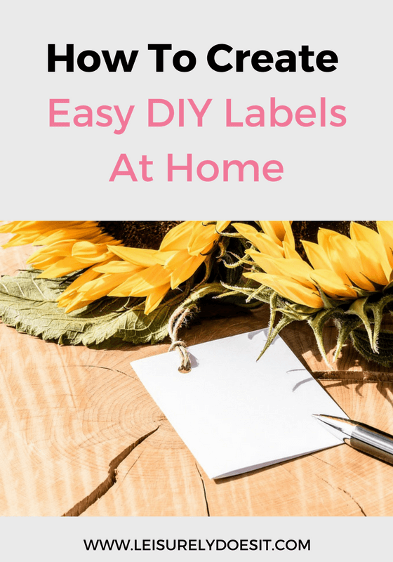 What better way to organize your home than to use DIY labels? Here are five easy ideas that you can use to create your own labels.