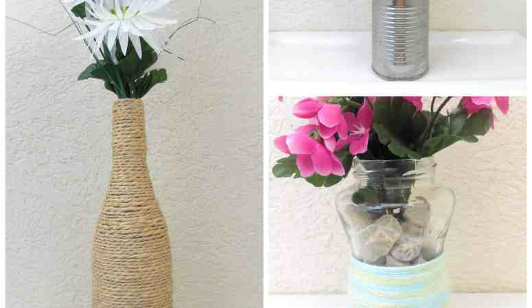 Perfect For Spring: 3 Cheap Vases That You'll Want To Make