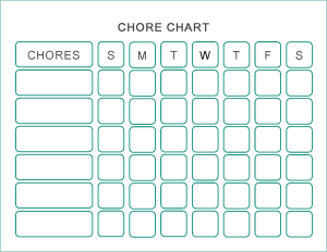 Leisurely Does It Chore Chart