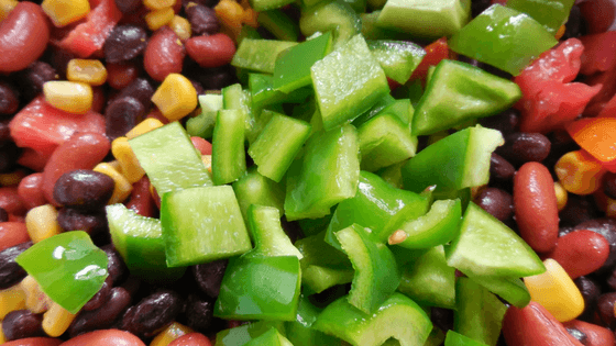 Click through to get the recipe for this hearty and delicious bean salad. It's great as a main dish or a side.