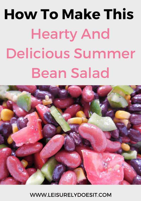 Make this hearty and delicious bean salad. It's great as a main dish or a side and best of all can be made in hardly any time at all.