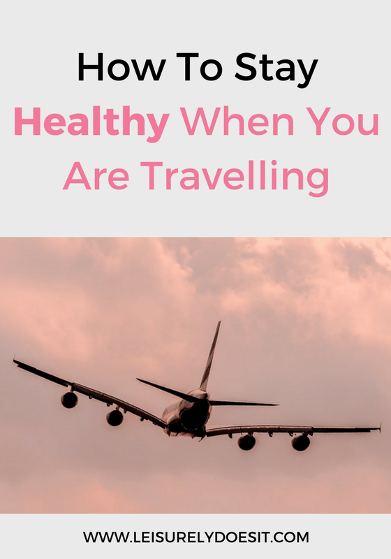 Great tips for you to stay healthy while travelling.