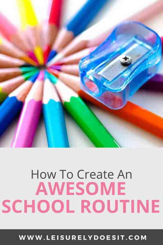 back to school how to create an awesome school routine